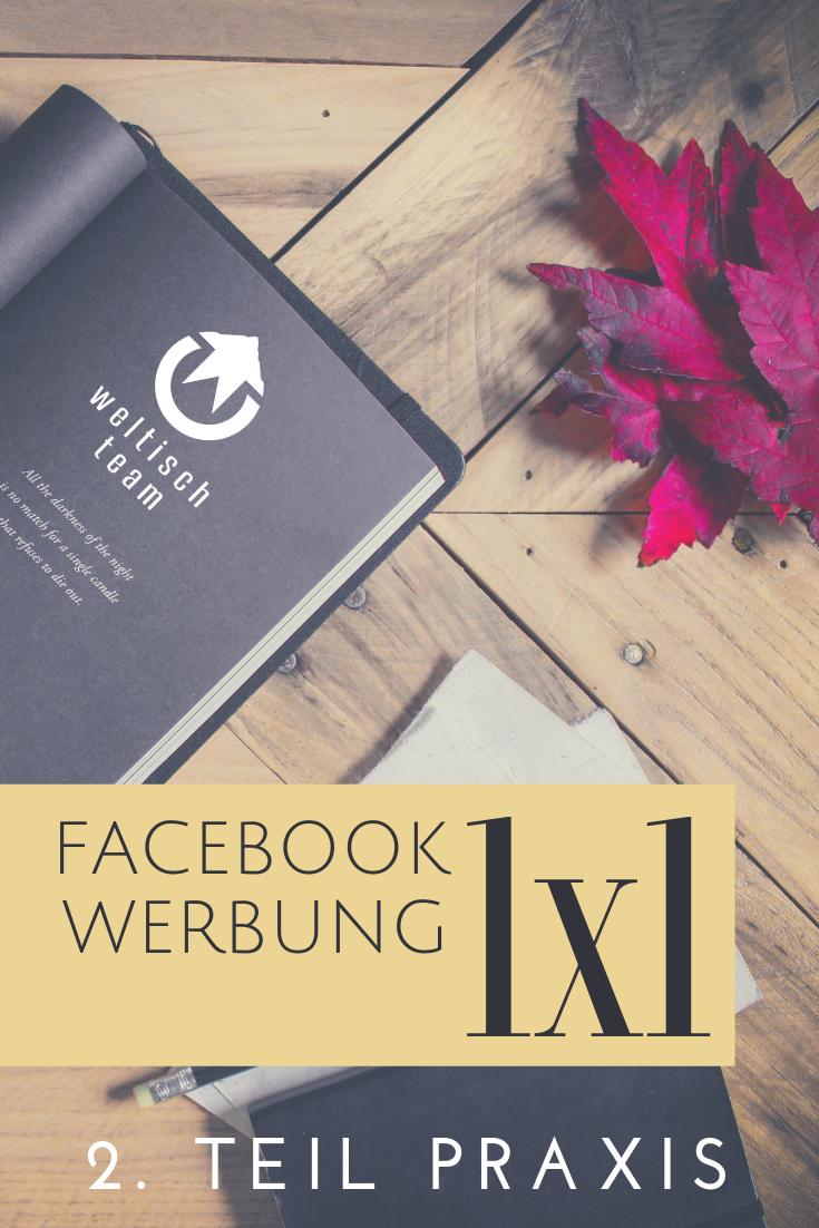 1x1 FB Werbung Praxis - Facebook Werbung 1×1 – Teil 2 Praxis