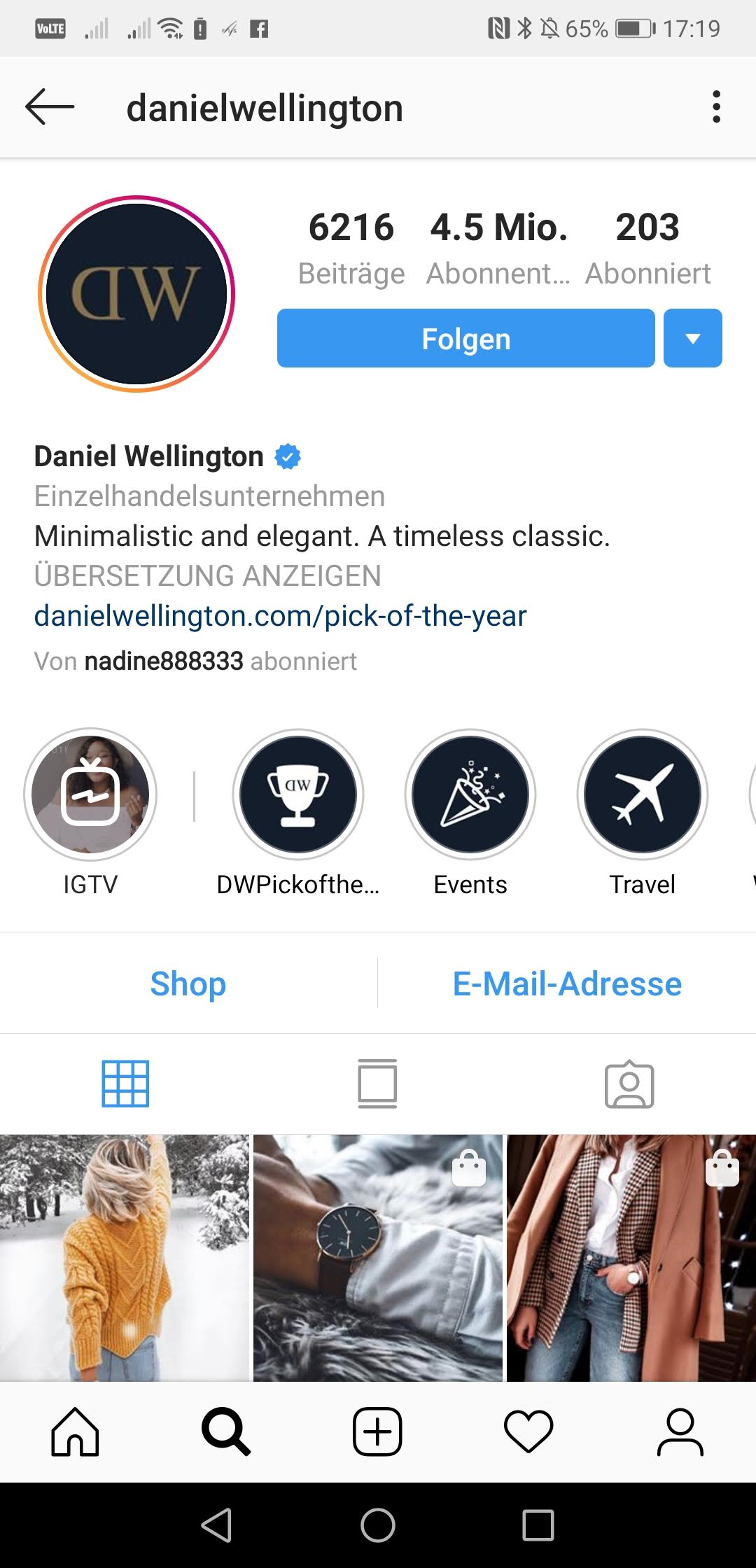 Screenshot 20190118 171930 com.instagram.android - Instagram Marketing mit Trendda